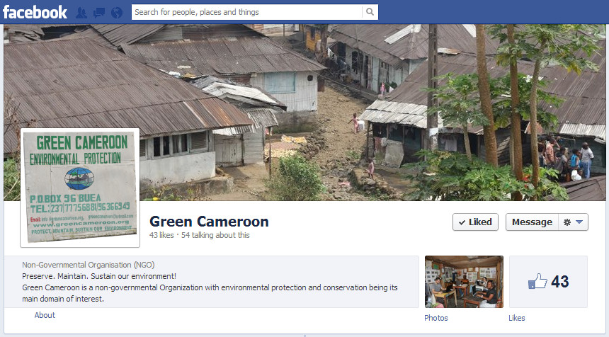 Green Cameroon Facebook Page