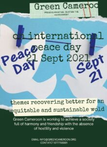 Green Cameroon Poster on Internation Peace Day